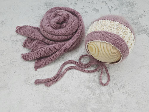 RTS 'CHLOE' bonnet and wrap set