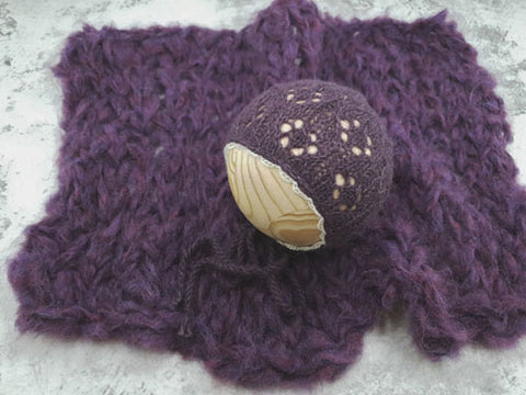 RTS Alpaca bonnet and layer set - Violet