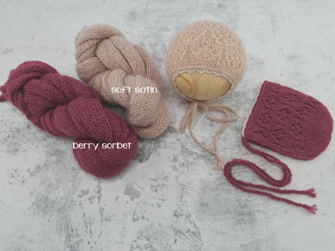RTS 'ASPEN' bonnet and wrap set
