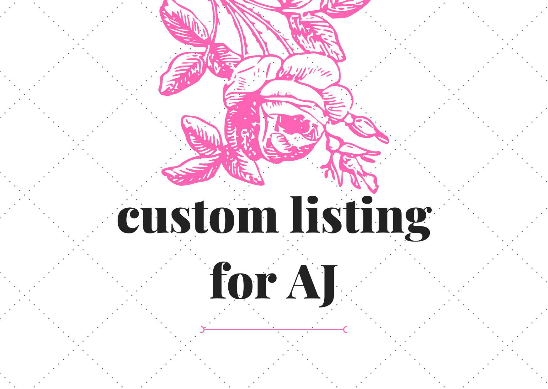 Reserved listing for AJ