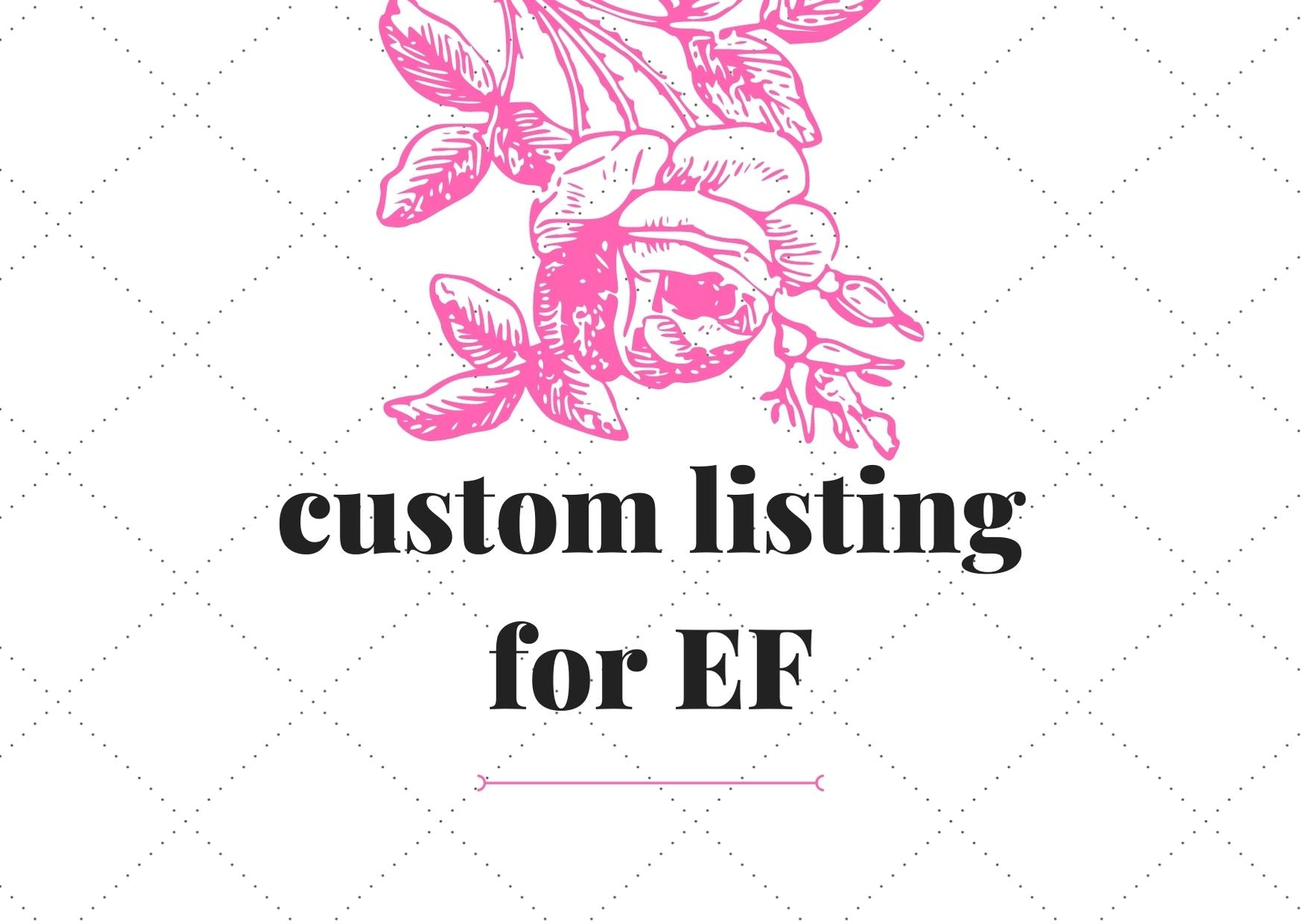 Reserved listing for EF