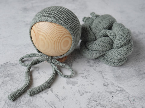 RTS Snug bonnet and wrap set - SAGE GREEN