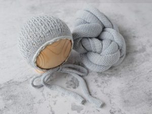 RTS 'WILLOW' bonnet and wrap set - DOLPHIN