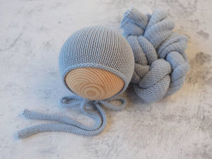 RTS Snug bonnet and wrap set - DUCK EGG