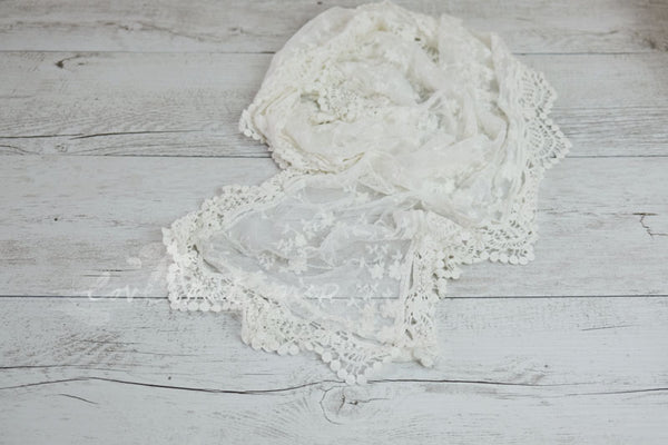 Delicate Crochet Edge Lace Wrap