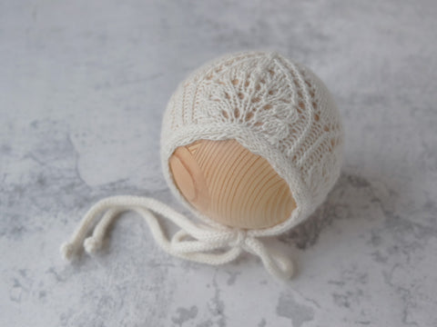 RTS 'SAVANNAH' newborn bonnet - OFF WHITE