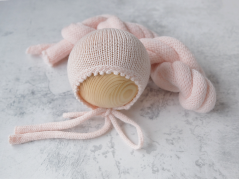 RTS SNUG bonnet and wrap set - SOFT BLUSH