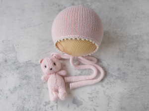 RTS SNUG bonnet and cuddle buddy set - PINK