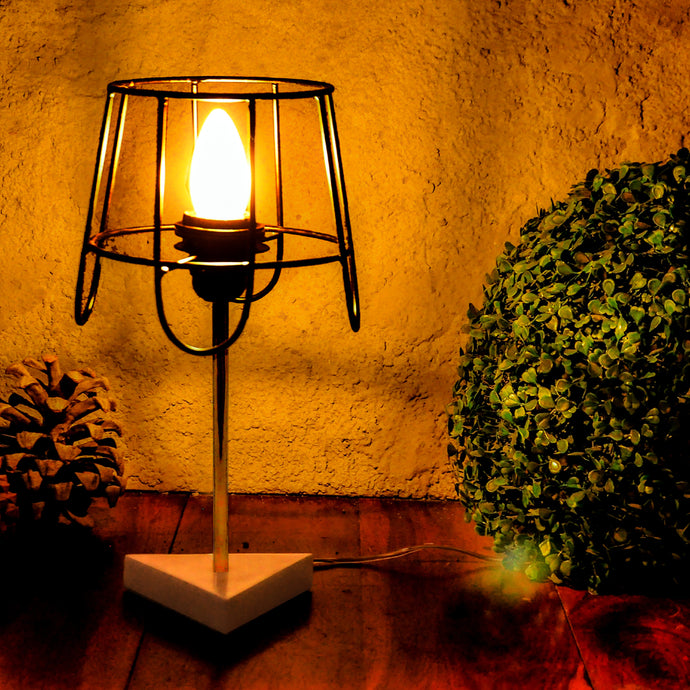 Ritzy Marble Metal Table Lamp
