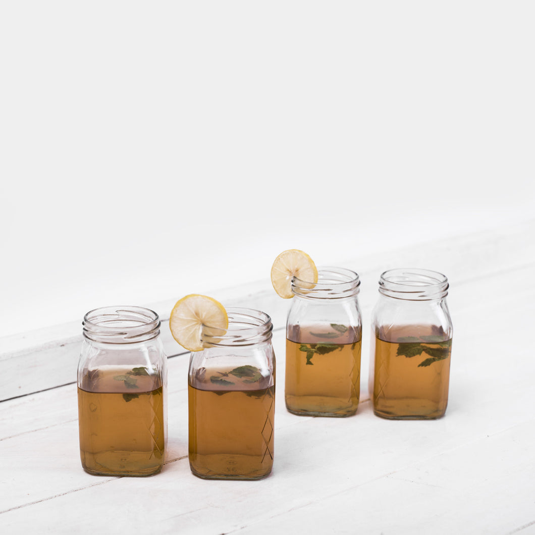 Mocktail square jar