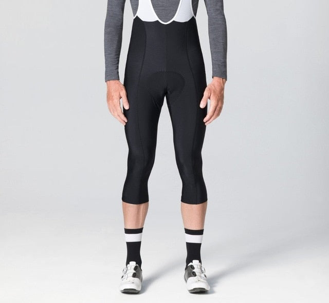3/4 Thermal Bib Shorts Black