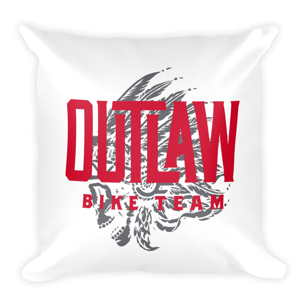 Outlaw Bike Team Square Pillow