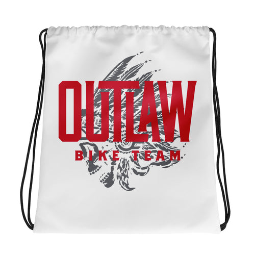 Outlaw Bike Team Drawstring bag