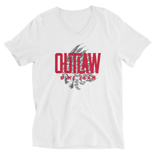 Outlaw Bike Team Unisex Short Sleeve V-Neck T-Shirt