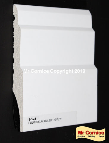 Mr Cornice S-121 120mm Polymer Skirting (3012)
