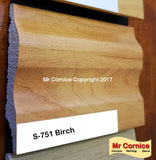 Mr Cornice S-751 Polymer Skirting (EFECO) Birch