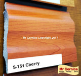Mr Cornice S-751 Polymer Skirting (EFECO) Cherry