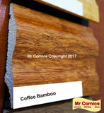 Mr Cornice S-751 Polymer Skirting (EFECO) Coffee Bamboo