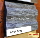 Mr Cornice S-751 Polymer Skirting (EFECO) Grey