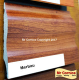 Mr Cornice S-751 Polymer Skirting (EFECO) Merbau