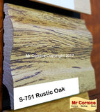 Mr Cornice S-751 Polymer Skirting (EFECO) Rustic Oak