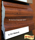 Mr Cornice S-751 Polymer Skirting (EFECO) Walnut