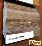 Mr Cornice S-751 Polymer Skirting (EFECO) White Oak