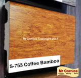 Mr Cornice S-753 Polymer Skirting (3015) Coffee Bamboo