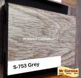 Mr Cornice S-753 Polymer Skirting (3015) Grey