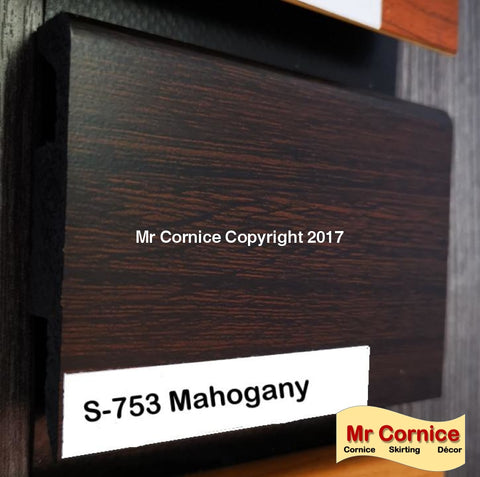 Mr Cornice S-753 Polymer Skirting (3015G) Mahogany