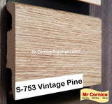 Mr Cornice S-753 Polymer Skirting (3015) Vintage Pine