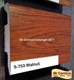 Mr Cornice S-753 Polymer Skirting (3015) Walnut