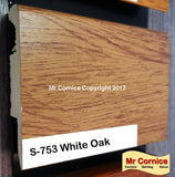 Mr Cornice S-753 Polymer Skirting (3015) White Oak