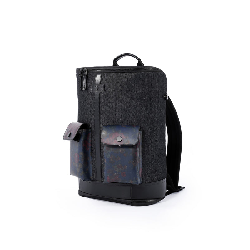 Captain Zip Around Backpack (S) (Denim)