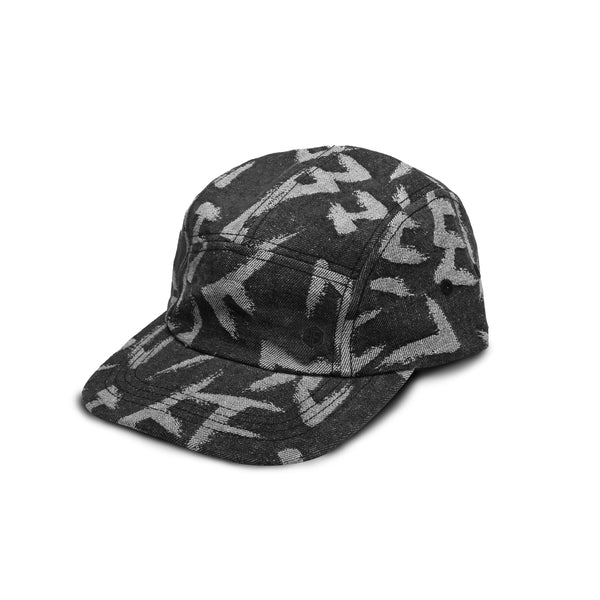NORMAN DENIM HAT - DENIM BLACK CALLIGRAPHY