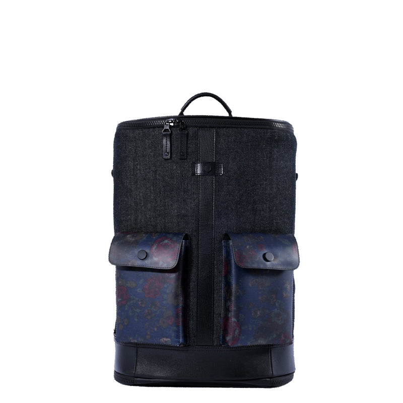 Captain Zip Around Backpack (M) (Denim)