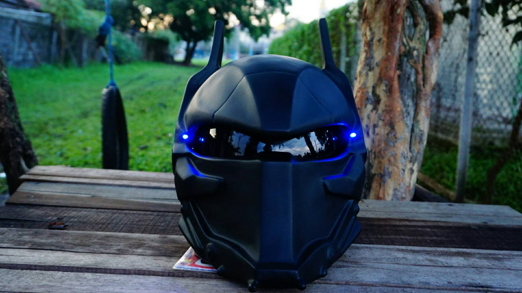 Black Custom Batman Arkham Knight Real Motorcycle Helmet