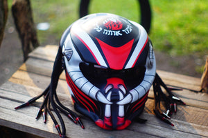 Custom racing cyber predator real motorcycle helmet