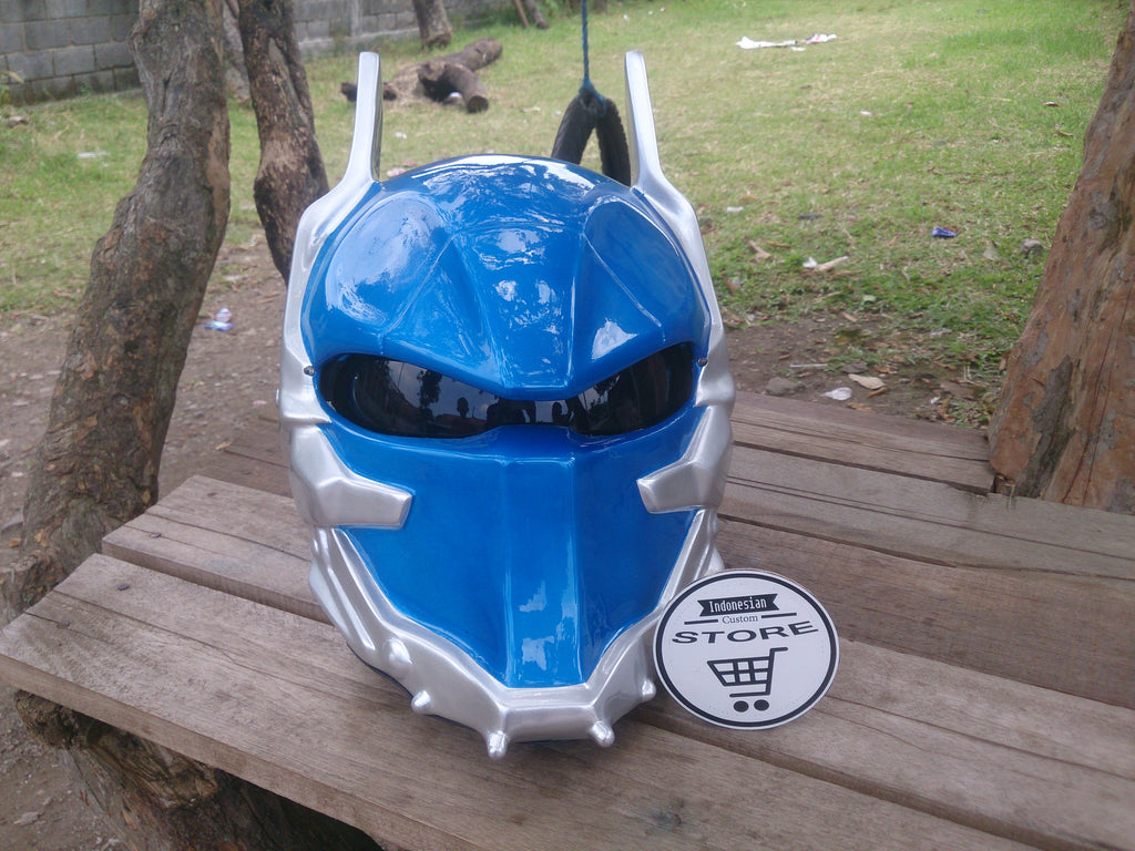 Blue Custom Batman Arkham Knight Real Motorcycle Helmet