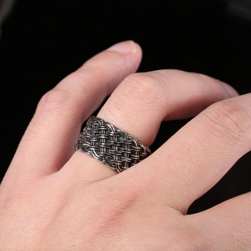 rings braided band amazon antique ring sterling mm style slp woven silver oxidized size com wave