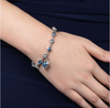 Fashion crystal 12 constellations Bracelet Girl bracelet Blue crystal