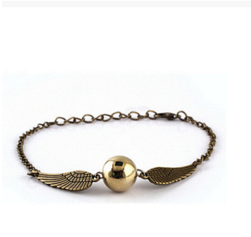 Retro Tone Golden Snitch Pocket Wings Bracelet