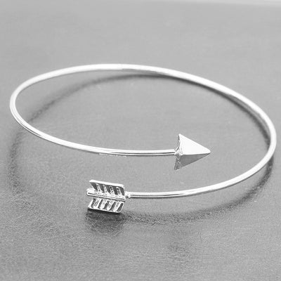Gothic Punk Women Ladies Arrow Bangle