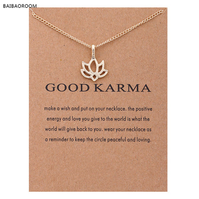 Good Karma Happy Lotus Choker Necklace