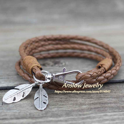 Leather Charm Friendship Bracelet