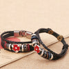 NARUTO Stud Charm Bangle Leather Woven Cuff Bracelet
