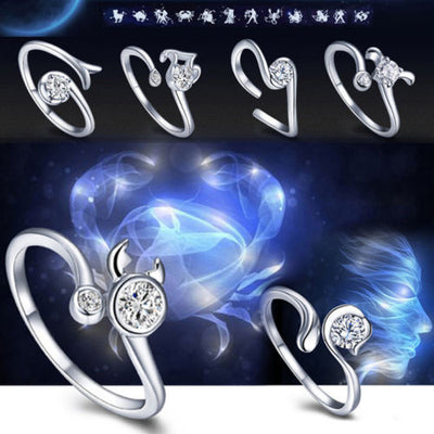 Zodiac Star Signs 12 Constellations Shaped Ring