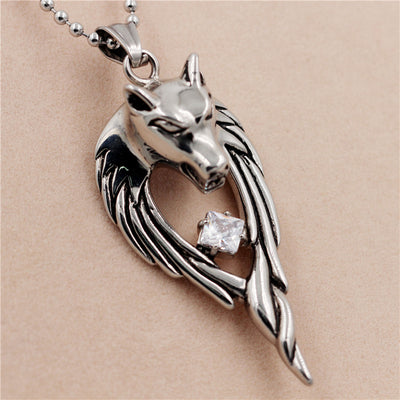 Anime Punk Wolf Necklace