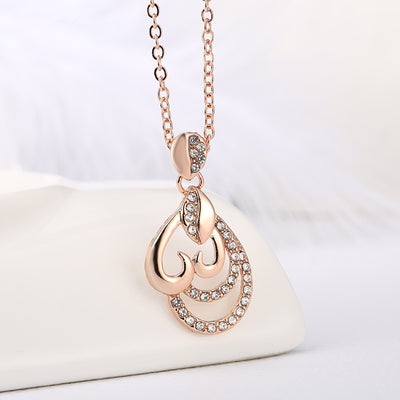 Imitation Rose Gold Filled Dubai African Jewelry Pendant Necklace