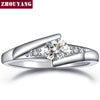 Classical Silver Color Cubic Zirconia Ring